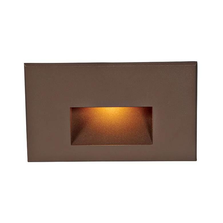 "WAC LEDme 5"" Wide Bronze Horizontal Amber LED Step Light"
