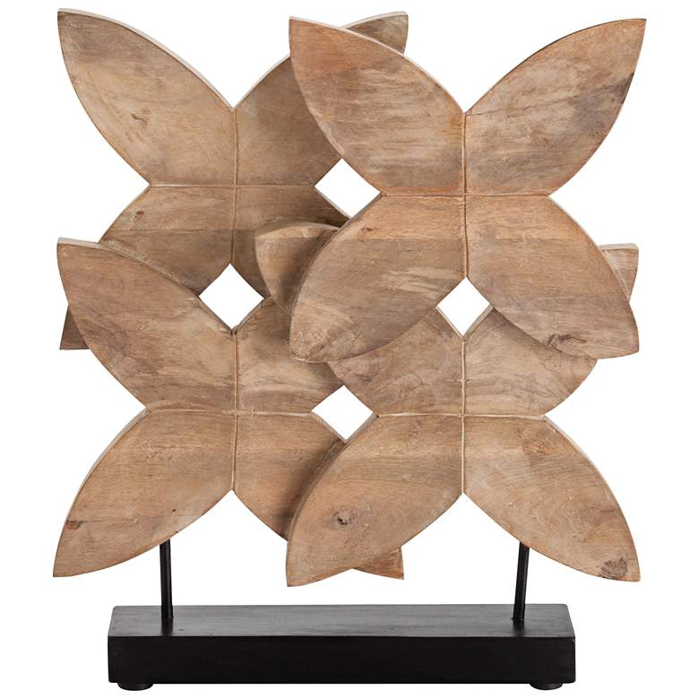 """Arteriors Home Ella 24""""H Natural Wax Wood Floral"""