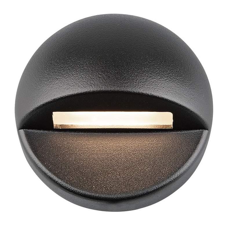 "WAC LEDme 3"" Wide Black Round 3000K LED Deck and Patio Light"