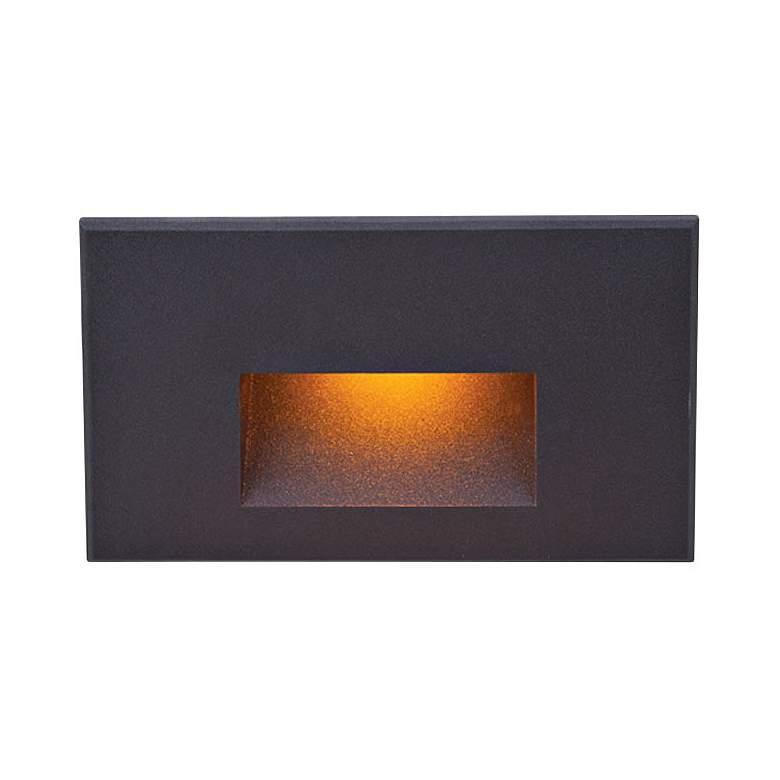 "WAC LEDme 5"" Wide Black Horizontal Amber LED Step Light"