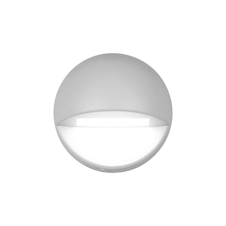 """WAC LEDme 3"""" Wide White Round 2700K LED Deck and Patio Light"""
