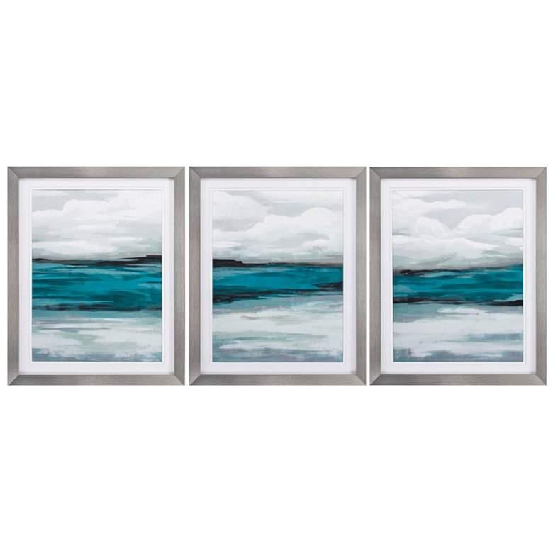 """Storm Front 30"""" High 3-Piece Framed Wall Art Print Set"""