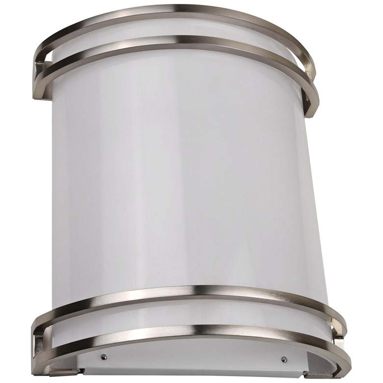 """Decorative Accent 12"""" High Brushed Nickel LED Wall Sconce"""