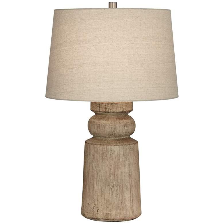 Totem Natural Faux Wood Table Lamp