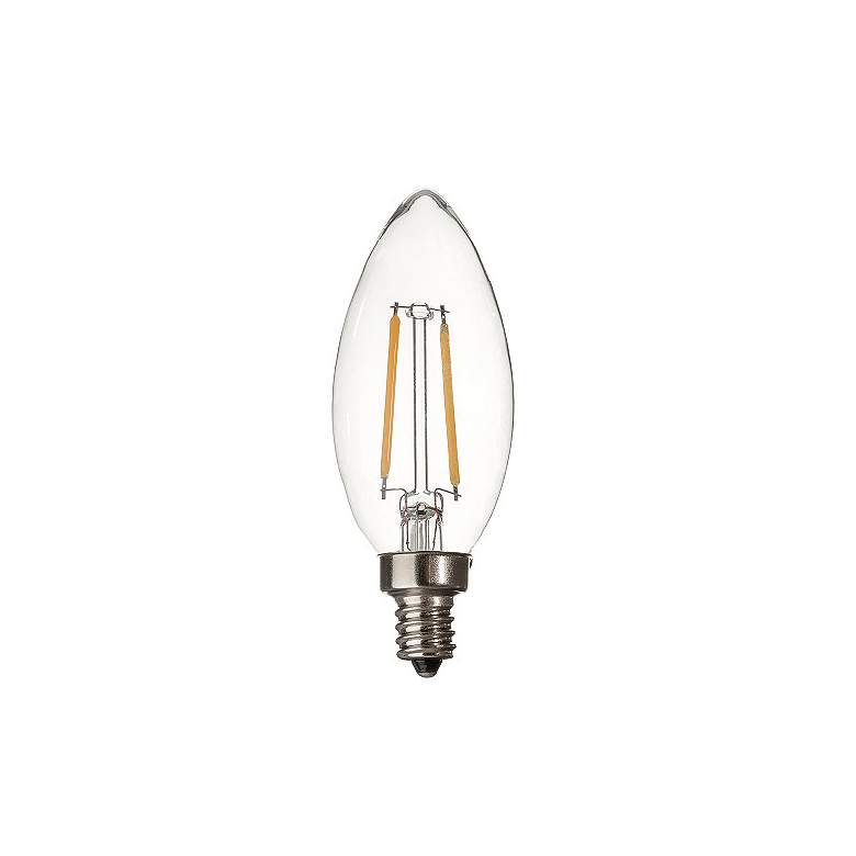 25W Equivalent Clear 2W 12 Volt LED Dimmable Candelabra Bulb
