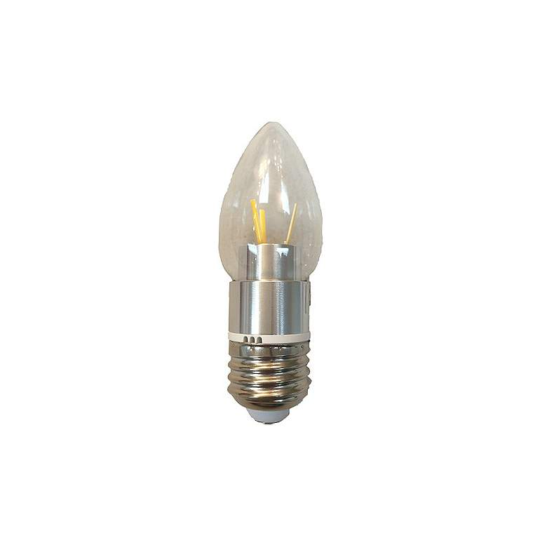 25W Equivalent Clear 2W 12 Volt LED Dimmable E26 Torpedo