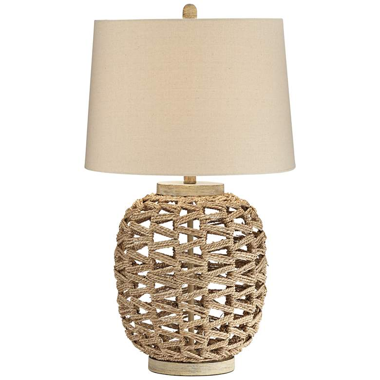 Montgomery Natural Rattan Rope Table Lamp