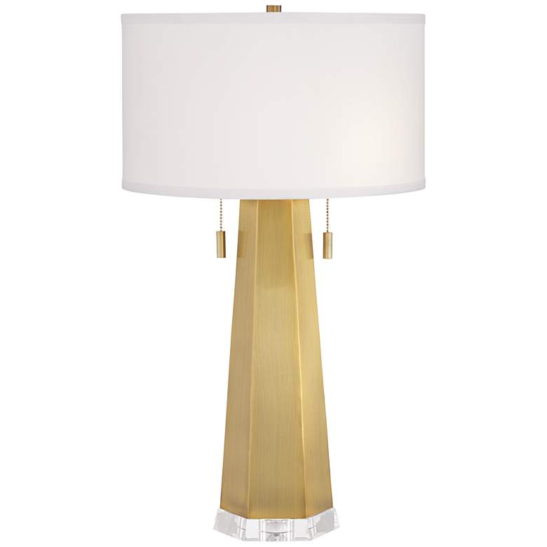 Fortress Hexagon Gold Metal Table Lamp