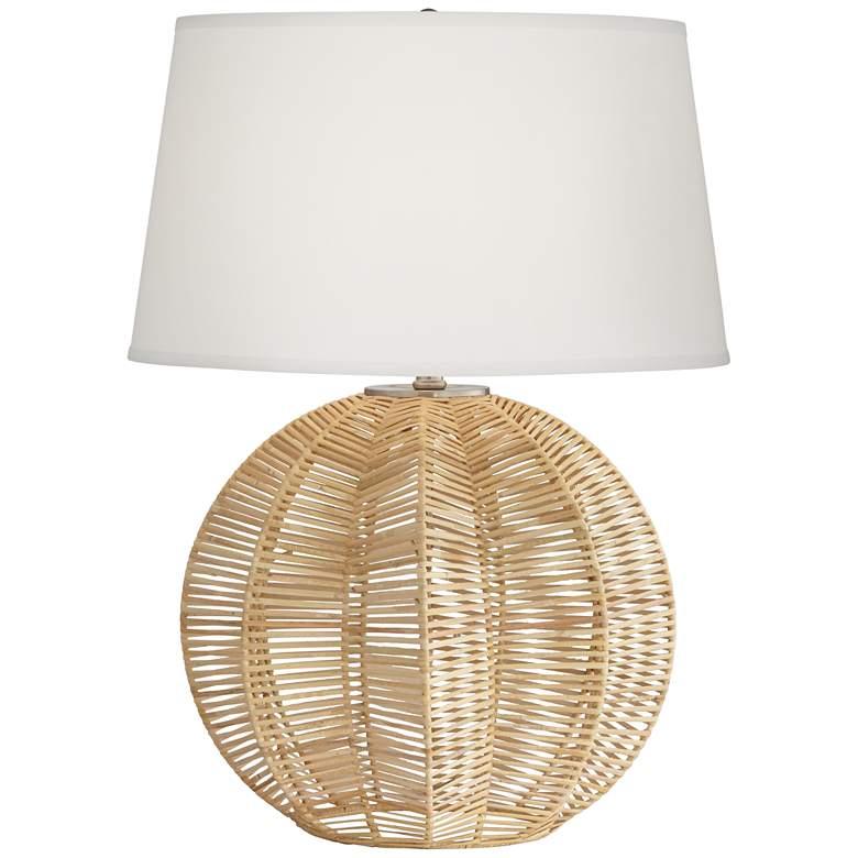Boca Natural Rattan Ball Table Lamp