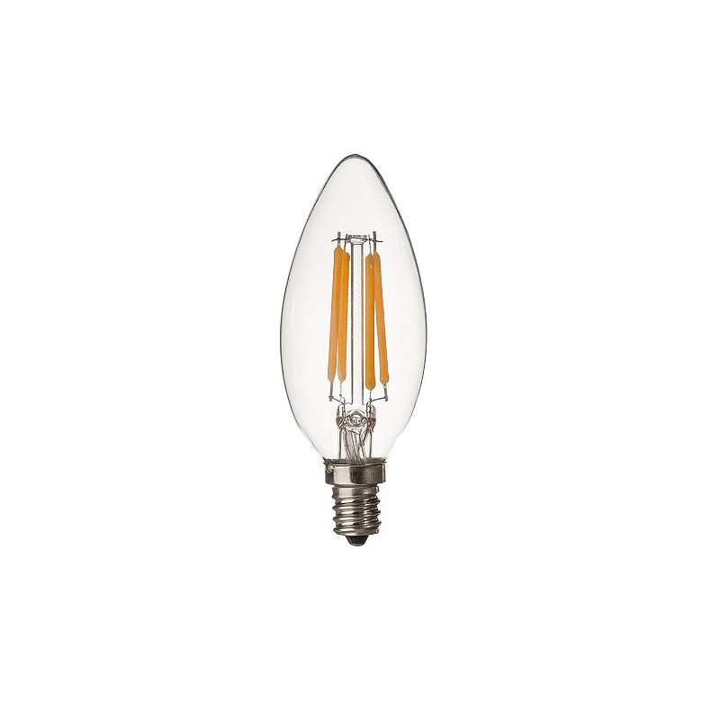 40W Equivalent Clear 4W 12 Volt LED Dimmable Candelabra Bulb