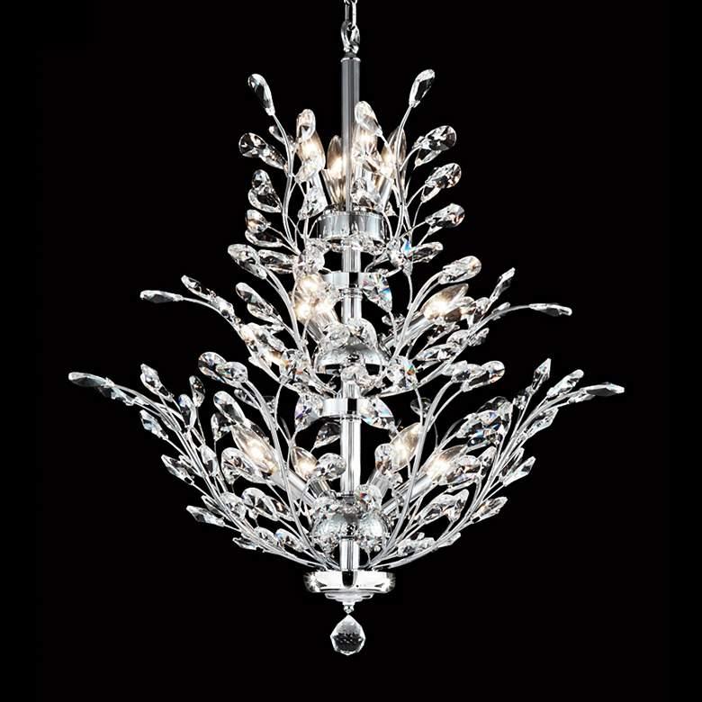 "Regalia 27"" Wide Silver 11-Light Crystal Dining Chandelier"