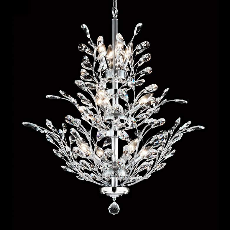 "Regalia 27"" Wide Silver 11-Light Crystal Dining Chandelier"