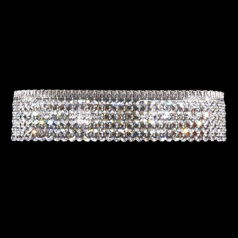 """James R. Moder Imperial 20""""W Silver and Crystal Bath Light"""