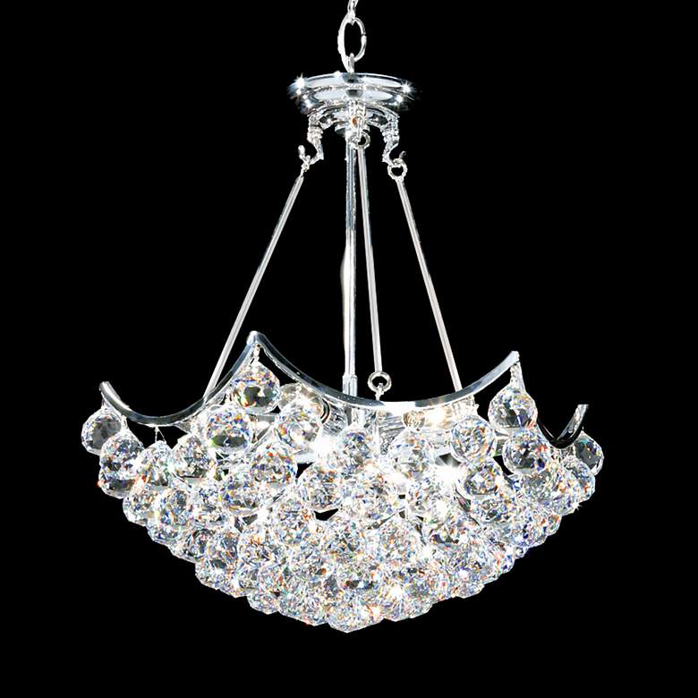 "James R. Moder Cascade 19""W Silver Crystal Dining"