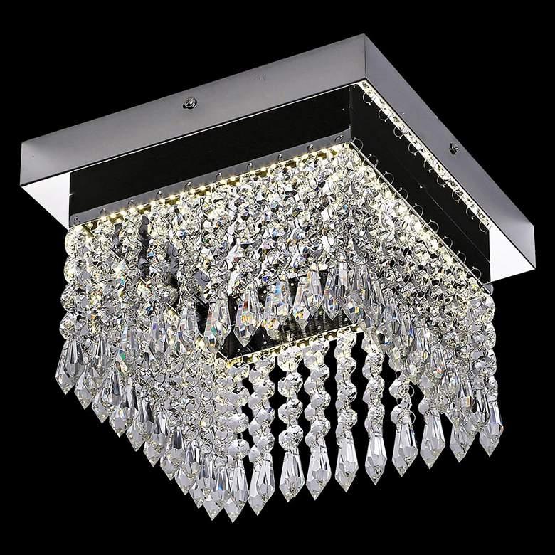 """James R. Moder Galaxy 10""""W Silver LED Crystal"""