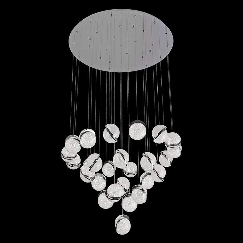 """Crystal Ice 34"""" Wide Round Crystal LED Multi Light Pendant"""