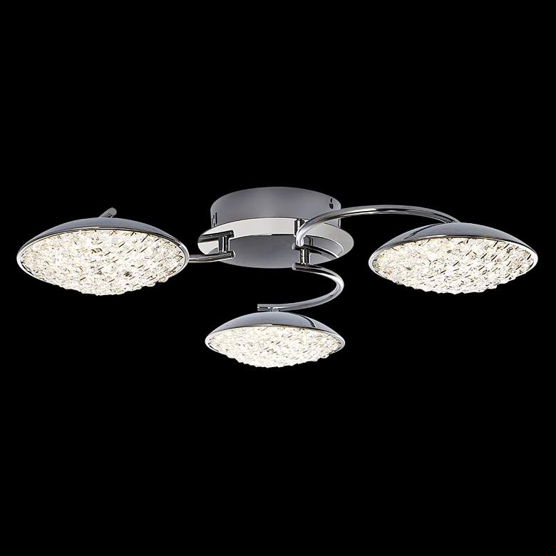 "James R. Moder Galaxy 24""W Silver LED Crystal Ceiling Light"