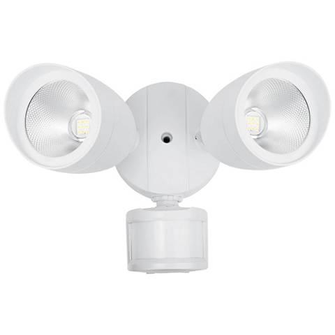 "Preston 6 1/2""H Matte White LED Motion Sensor Security Light"
