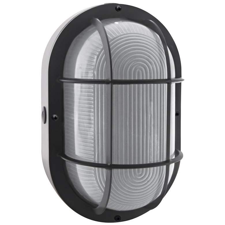 "Jessen 11 1/4"" High Black LED Bulkhead Outdoor Wall Light"
