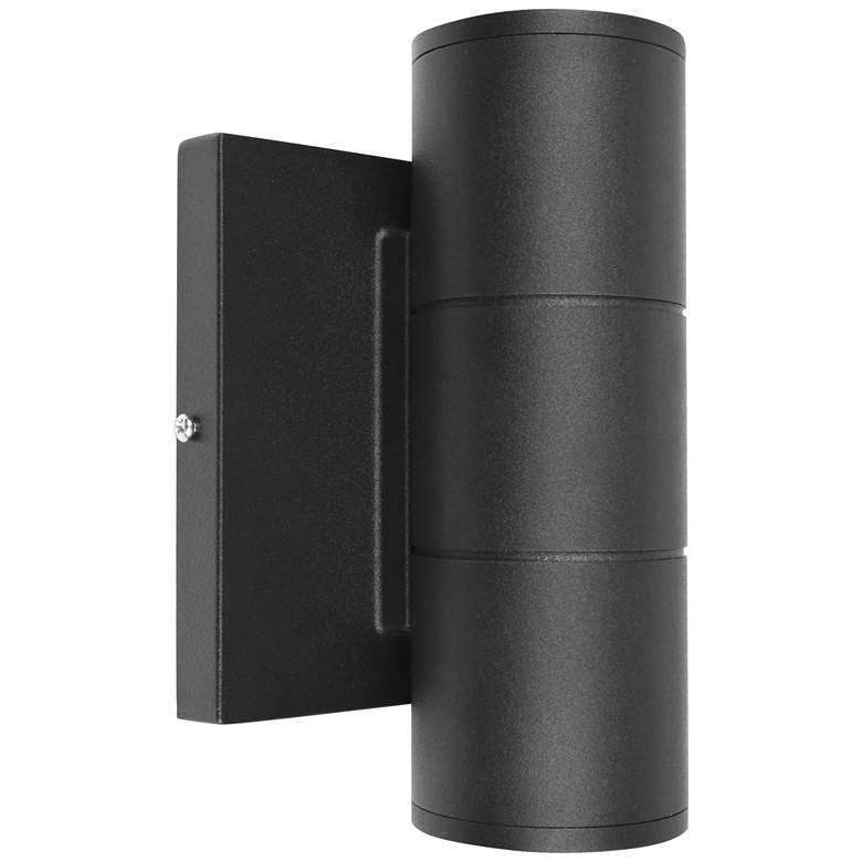"Metro 6 3/4"" High Matte Black Dual LED Outdoor Wall Light"