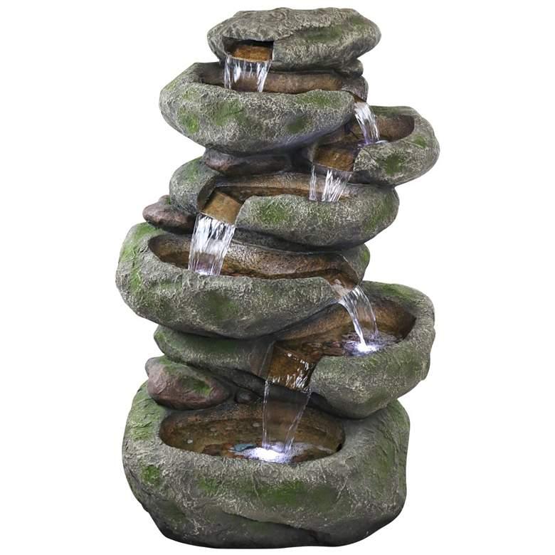 "Rainforest 47"" High Cascading Waterfall Fountain with Light"