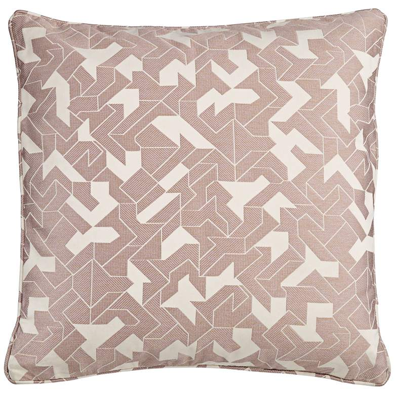 "Abstract Pink 20"" Square Decorative Pillow"