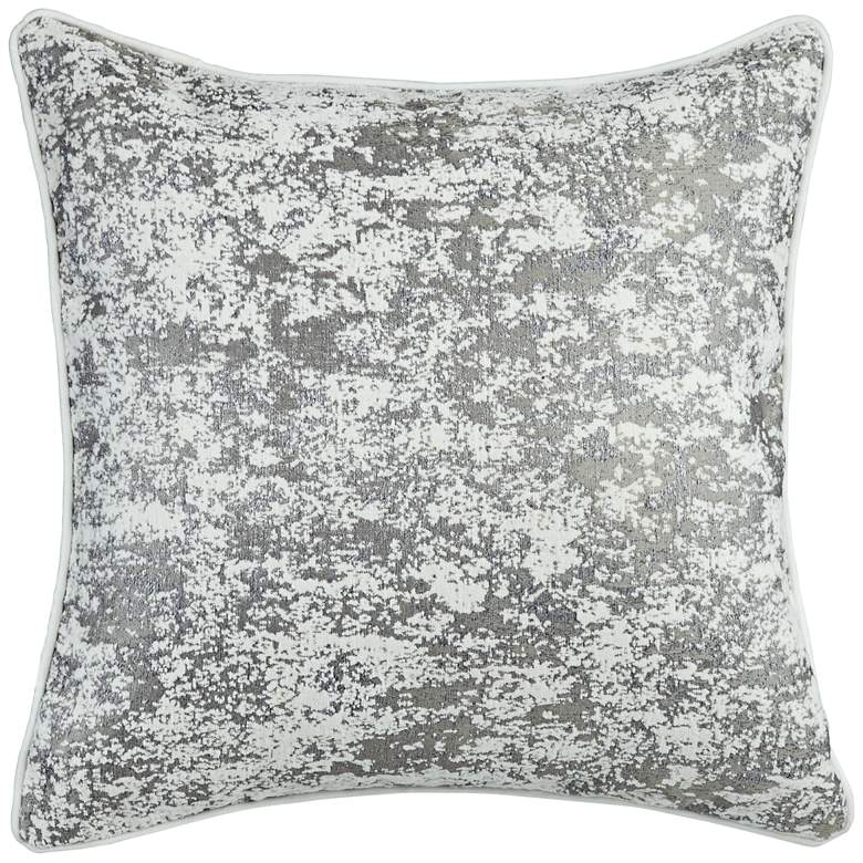 "Gray Textured 20"" Square Decorative Pillow"