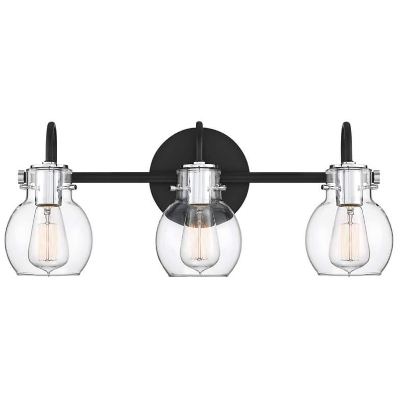 Quoizel Andrews 22 Wide Earth Black 3 Light Bath 66h00 Lamps Plus