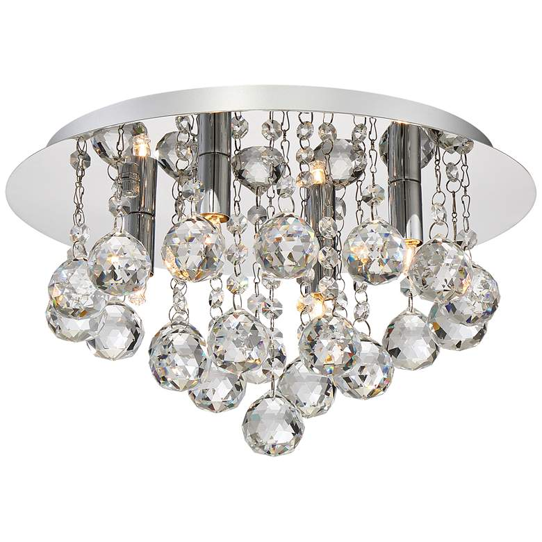 "Bordeaux 13 3/4"" Wide Polished Chrome 4-Light Ceiling Light"