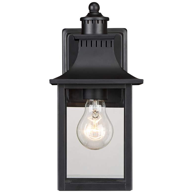 "Quoizel Chancellor 11 1/4""H Mystic Black Outdoor Wall"