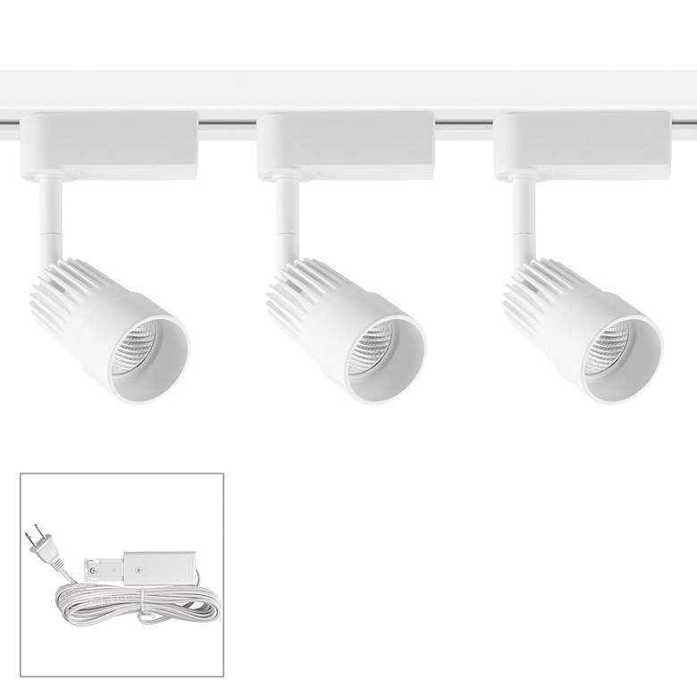 Linder 3-Light White LED Plug-In Linear Track Kit