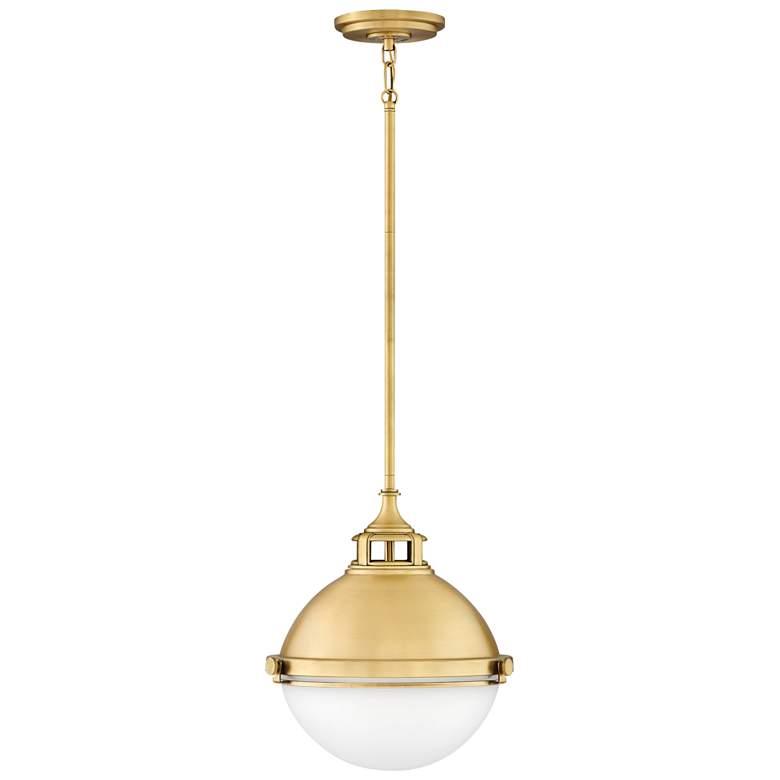 "Hinkley Fletcher 13 1/2"" Wide Satin Brass Pendant Light"