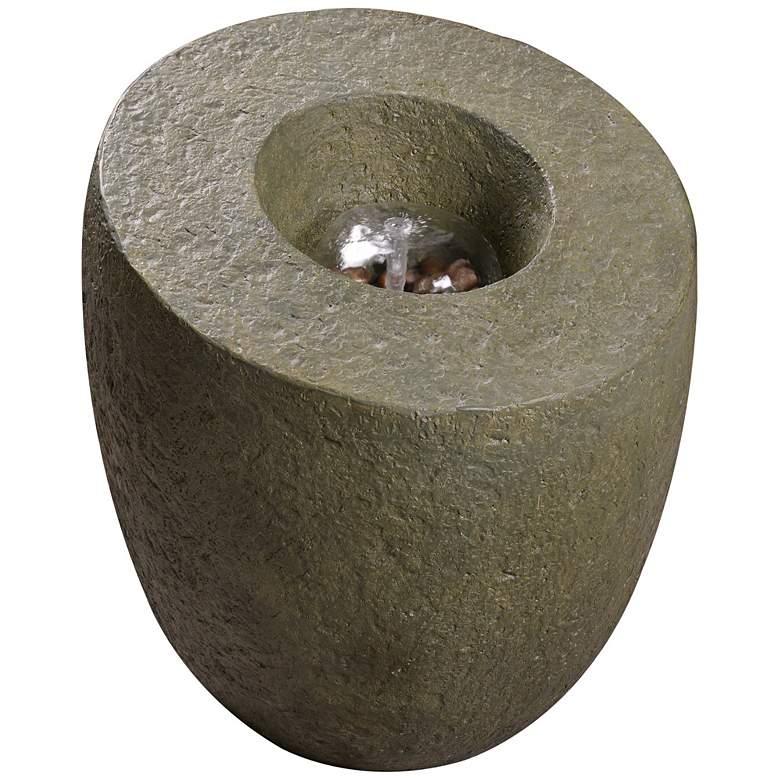 """Lava 24"""" High Moss Stone Indoor/Outdoor Floor Fountain"""