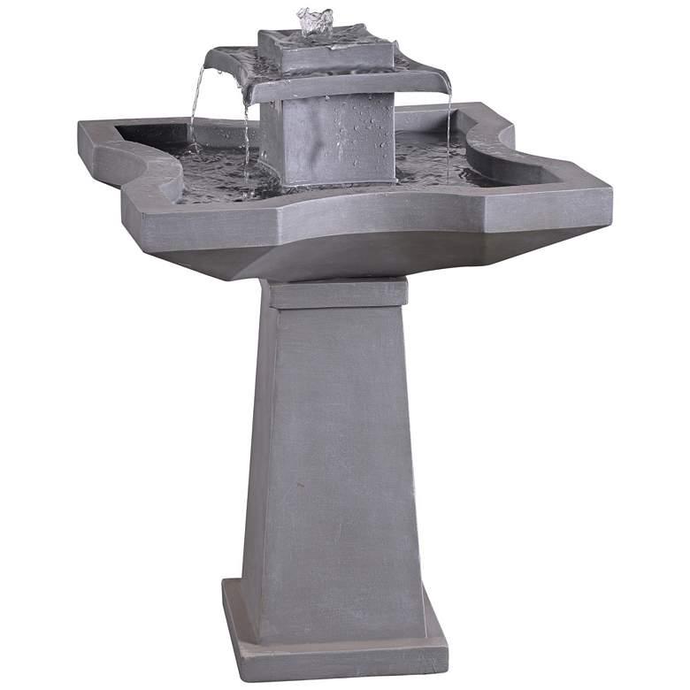 "Kenroy Home Quad 31 1/2""H Concrete Outdoor Floor Fountain"