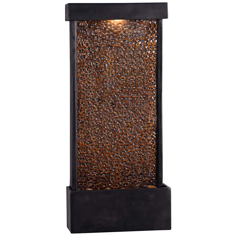 "Forged Water 26""H Hammered Copper Outdoor LED Wall"