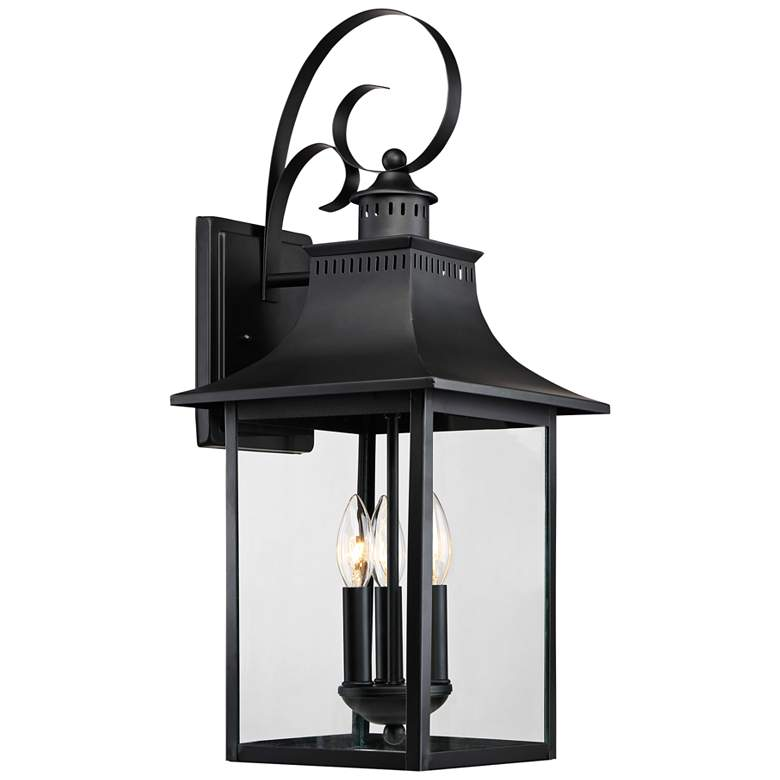 "Quoizel Chancellor 23 1/2""H Mystic Black Outdoor Wall Light"