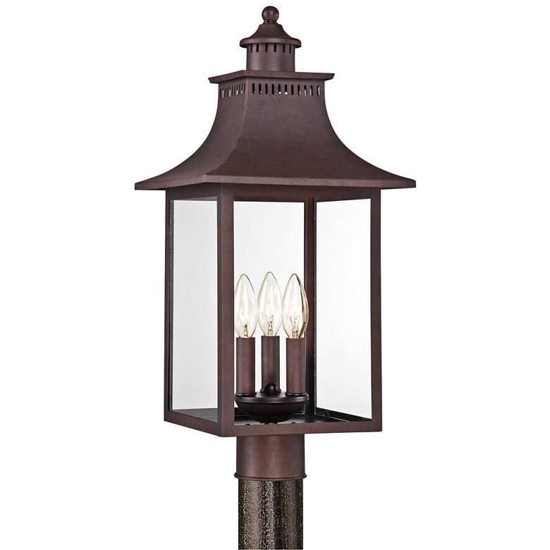"Quoizel Chancellor 22"" High Copper Bronze Outdoor Post light"