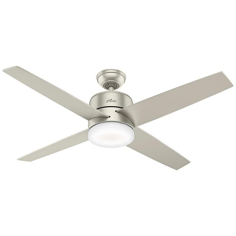 """54"""" Hunter Advocate Matte Nickel LED Ceiling Fan"""