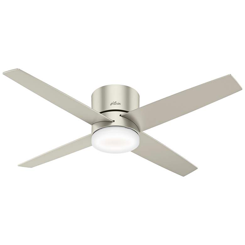 "54"" Hunter Advocate Matte Nickel LED Hugger Ceiling Fan"