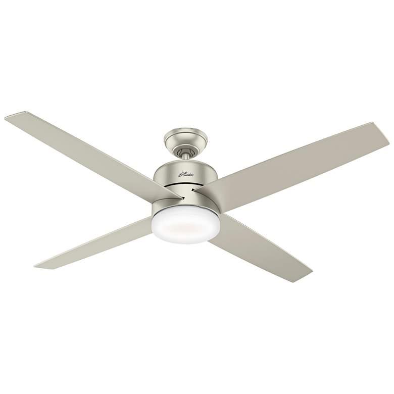 """60"""" Hunter Advocate Matte Nickel LED Ceiling Fan"""