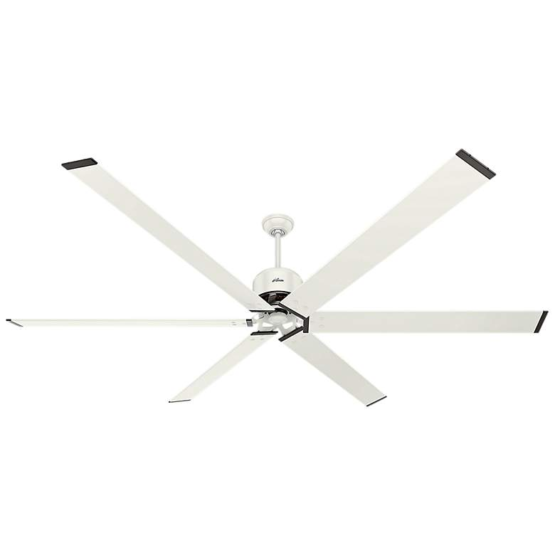 "96"" Hunter HFC-72 Fresh White Outdoor Ceiling Fan"