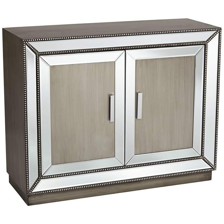 Galena 2-Door Mirrored Accent Cabinet