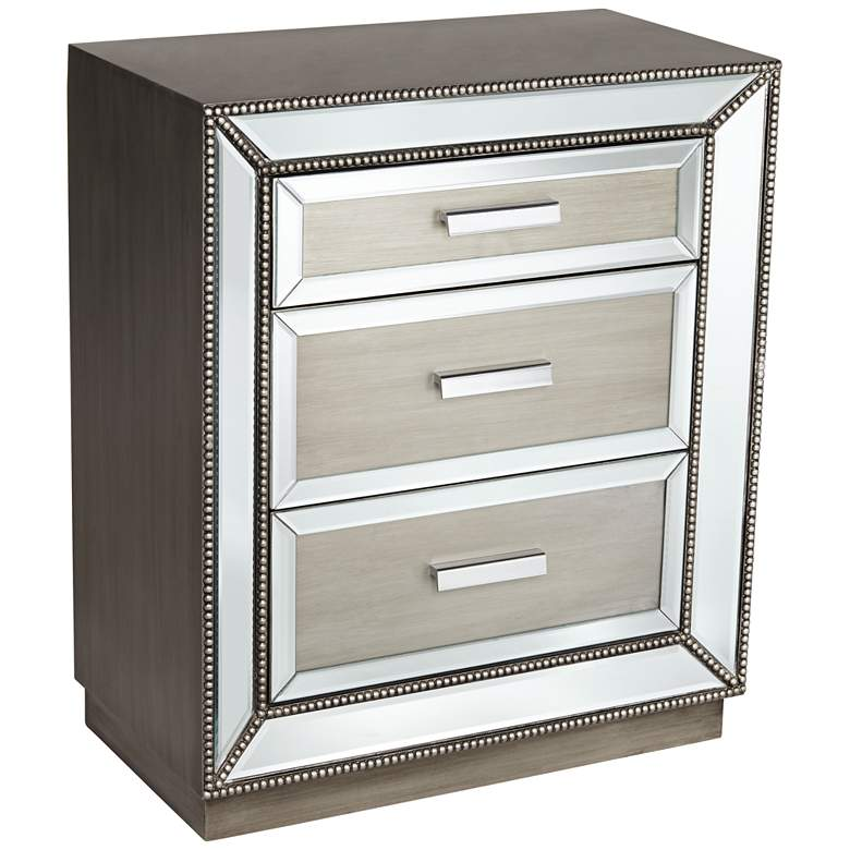Galena 3-Drawer Mirrored Accent Chest