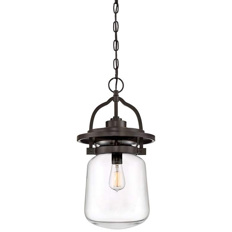 """LaSalle 21 1/2"""" High Western Bronze Outdoor Hanging Light"""
