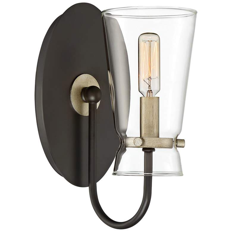 """Quoizel Midnight 10 1/2"""" High Western Bronze Wall Sconce"""