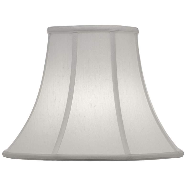 Stiffel Off-White Silk Bell Lamp Shade 7x14x11 (Spider)
