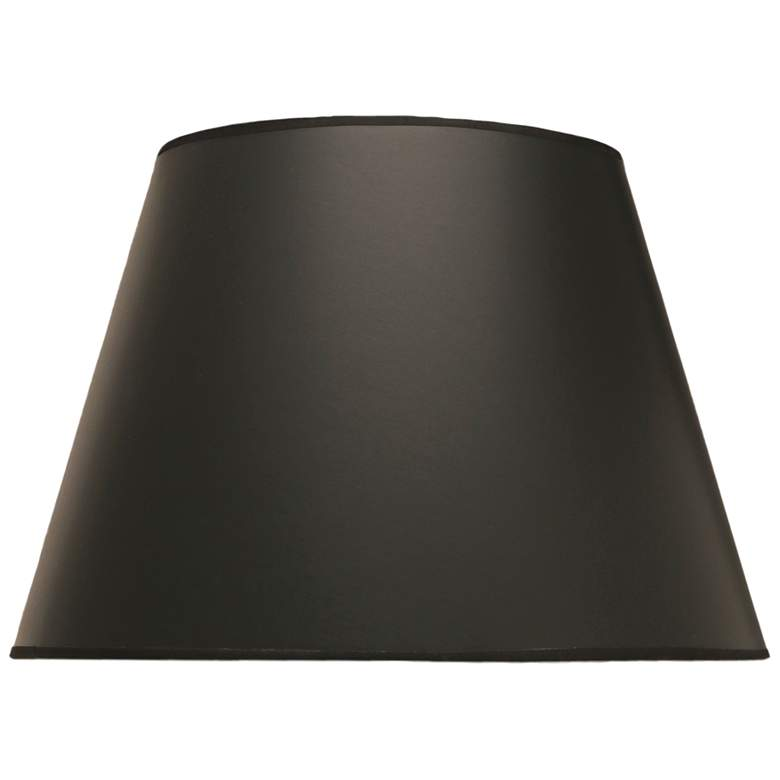 Black Opaque Parchment Empire Lamp Shade 10x16x11 (Spider)