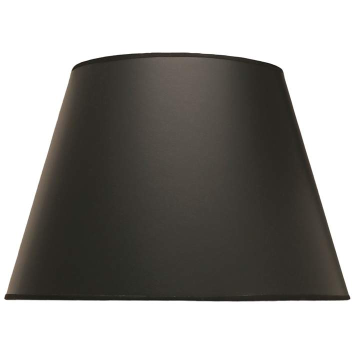 Black Opaque Parchment Empire Lamp Shade 10x16x11 Spider