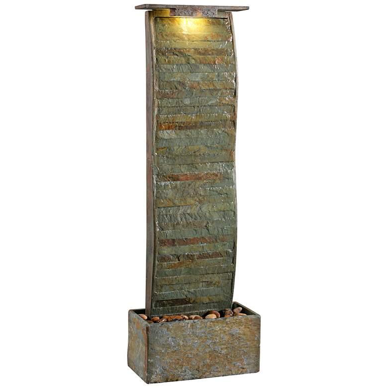 "Meander 48"" High Slate Indoor/Outdoor LED Floor Fountain"