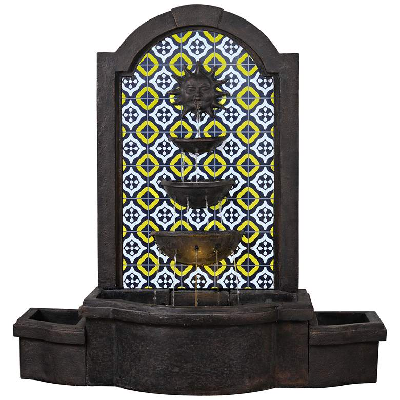 """Sunny Daybreak 45"""" High Traditional Fountain with LED Light"""